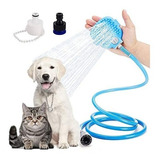 Duchador Con Cepillo Y Manguera Para Baño Perros Y Gatos F