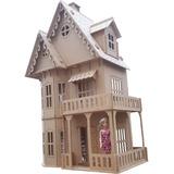 Casita De Muñecas Barbie 1,20 + 16 Muebles, Mdf 6mm Espesor