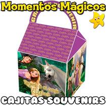 10 Cajitas Souvenirs Rapunzel Enredados Valijita Golosinera