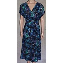 Vestido Seda Fria Estampa Floral Gorditas Largo Talle Grande