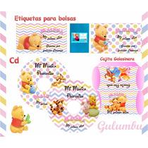 82707bee6 Kit Imprimible Winnie Pooh Bebe Nena Baby Candybar Etiquetas en ...
