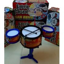 Bateria Musical Juguete Infantil Para Chicos Con Palillos