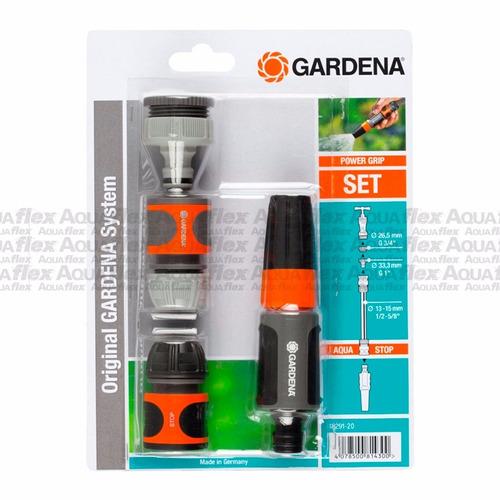 Kit Riego 5 Piezas 1/2`` Power Grip Gardena 18295 Aquaflex