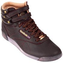 Zapatillas Botitas Reebok Freestyle Premium Violetas