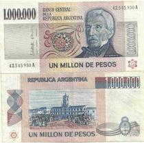 Billete 1.000.000 Pesos Ley Serie A 1 Millon Excelente