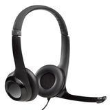 Auricular Vincha Logitech Clearchat Micrófono Usb Skype