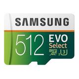 Tarjeta De Memoria Samsung Mb-me512ga/am Evo Select Con Adaptador Sd 512gb