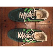 Zapatillas Marca Gola Urbanas Verdes Originales