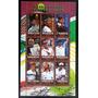 Rwanda Deportes, Bloque 9 Sellos Tenis Masc 2010 Usado L7034