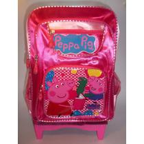 Mochila Peppa Pig Con Ruedas A Estrenar.