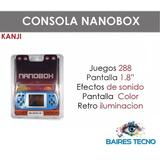 Consola Portatil Nanobox Kanji 228 Juegos En 1