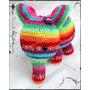 Elefante Arcoiris Tejido Crochet Amigurumi.
