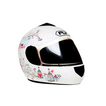 Casco Fly De Mujer Funlove Flowers Branco Consulte Stock