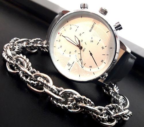 Reloj Mujer Jean Cartier + Pulsera Acero Quirurgico Syd8 -   559 en ... 82578fa764ba
