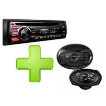 Combo Stereo Pioneer 1750 + Pioneer 6x9 500w + Envio Gratis
