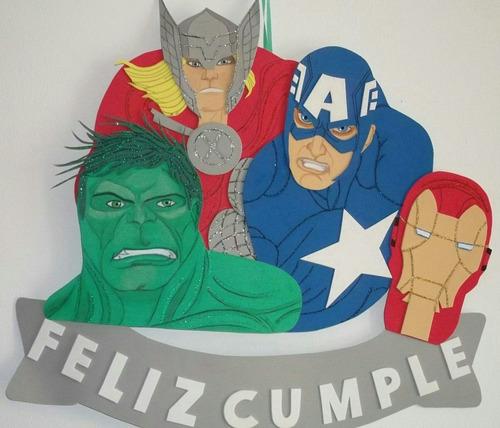Cartel Cumpleaños - The Avengers - Goma Eva - 41 X 42 Cm.   500 b81c33c60080b