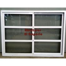 Ventana Aluminio Vidrio Repartido Horizontal 150x110