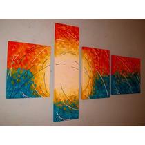 Cuadros Tripticos Abstractos 160x70 M U Y G R A N D E !!!