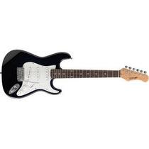 Stratocaster Guitarra Electrica Stagg C/ Cuerdas Daddario Bk