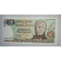 Billete 50 Pesos Argentinos Serie A