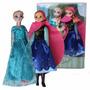 Muñeca Frozen Elsa Y Ana 30cm De Alto En Caja Cristal