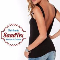 Musculosa Modal Espalda Abierta Mujer Excelente Calidad Moda