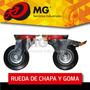 Rueda Chapa Goma Giratoria Fija Carro Chango Carrito Mg Tv