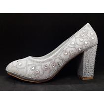 Zapato Mujer Comodo Taco Bajo Fiestas