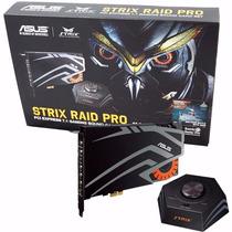 Placa De Sonido Asus Strix Raid Pro 7.1 Pci Express Gaming