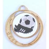 40 Medallas Futbol De Metal 38 Mm  Oferta !