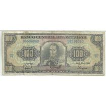 Ecuador 100 Sucres P123 1990