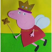 Cartel Figura Peppa Pig De Goma Eva Entrega Inmediata