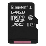 Tarjeta De Memoria Kingston Sdcs Canvas Select 64gb