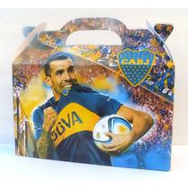 Cajita Bolsita Boca Juniors Souvenirs Pack X100