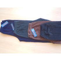 Pantalon Recto Corderoy Elastizados Calza Talles Especiales
