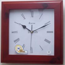 Reloj De Pared En Madera Eurotime - Garantia 12 Meses -
