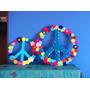 2 Simbolos De La Paz Artesanales. 50+30 Cm. Crochet