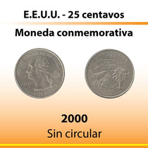 25 Centavos De Dolar Conmemorativa 2000 S/ Circular