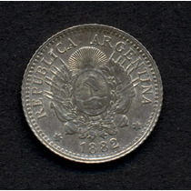 Guardia Imp. Serie Patacon - 10 Cent. 1882 Plata