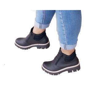 7d0f6c9c Zapatos Mujer Botineta Tipo Borcego Con Cierre Envio Art 200