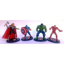 Superheroes Vengadores Set De 4 Figuras De Marvel