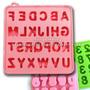 Moldes De Silicona Letras + Numeros Alfabeto Chocomensajes
