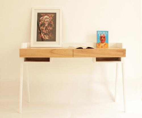Escritorio mesa de trabajo madera paraiso dise o for Mesas escritorio diseno