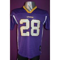 Camiseta Nfl Minnesota Vikings, Reeboks, #28 Peterson.