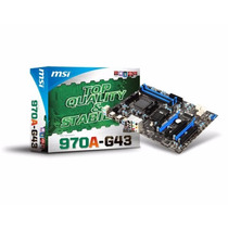 Msi 970a-g43 Socket Am3+ / Sata 3 & Usb 3.0 / 970 Crossfire