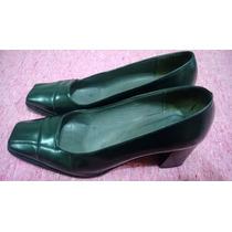 Zapatos De Vestir Cuero N°37-37.5-la Plantilla Mide 24.5cm.