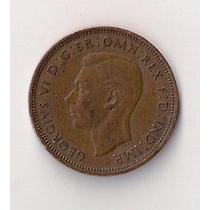 Gran Bretaña Moneda De Half Penny Año 1942