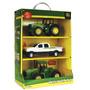 Set De Tractores Con Camioneta John Deere Original