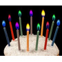 Velas Cumpleaños Magicas. Llama Color. Cotillon (10 Unid)