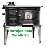 Cocina A Leña  Carelli N°2b  Horno De Fundicion